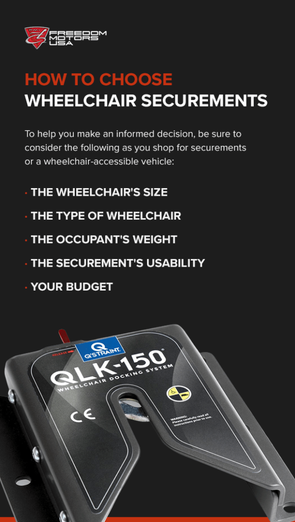 how to choose wheelchair securements