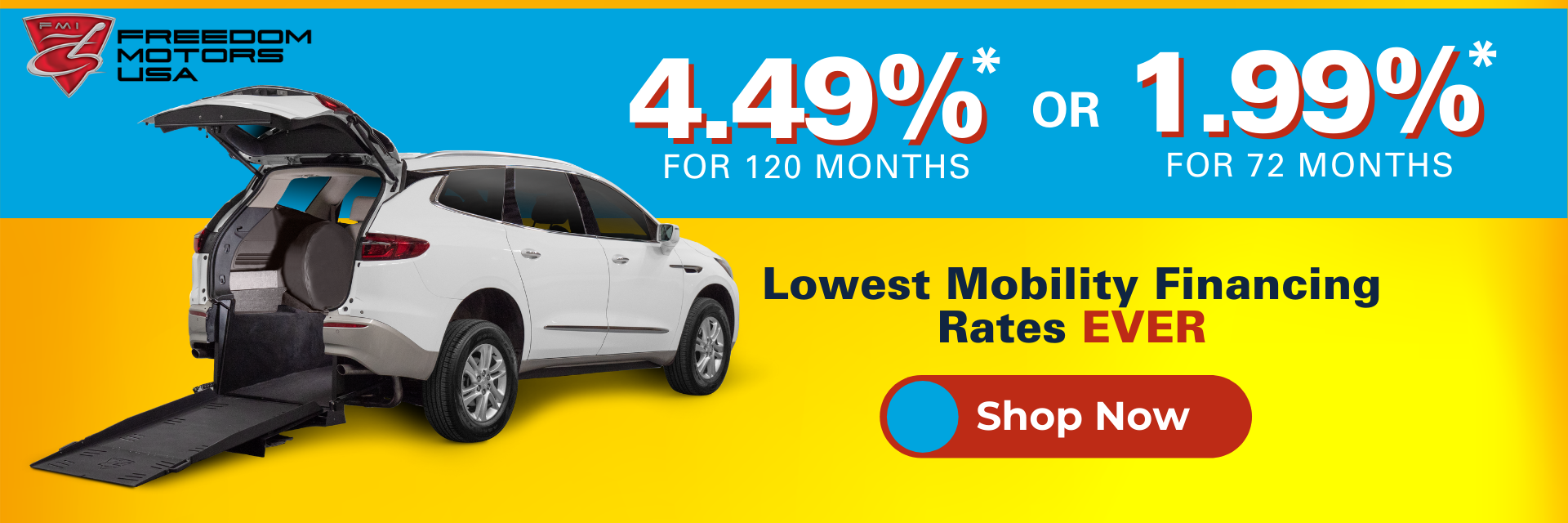 Lowest Rates Ever On Wheelchair Vehicles