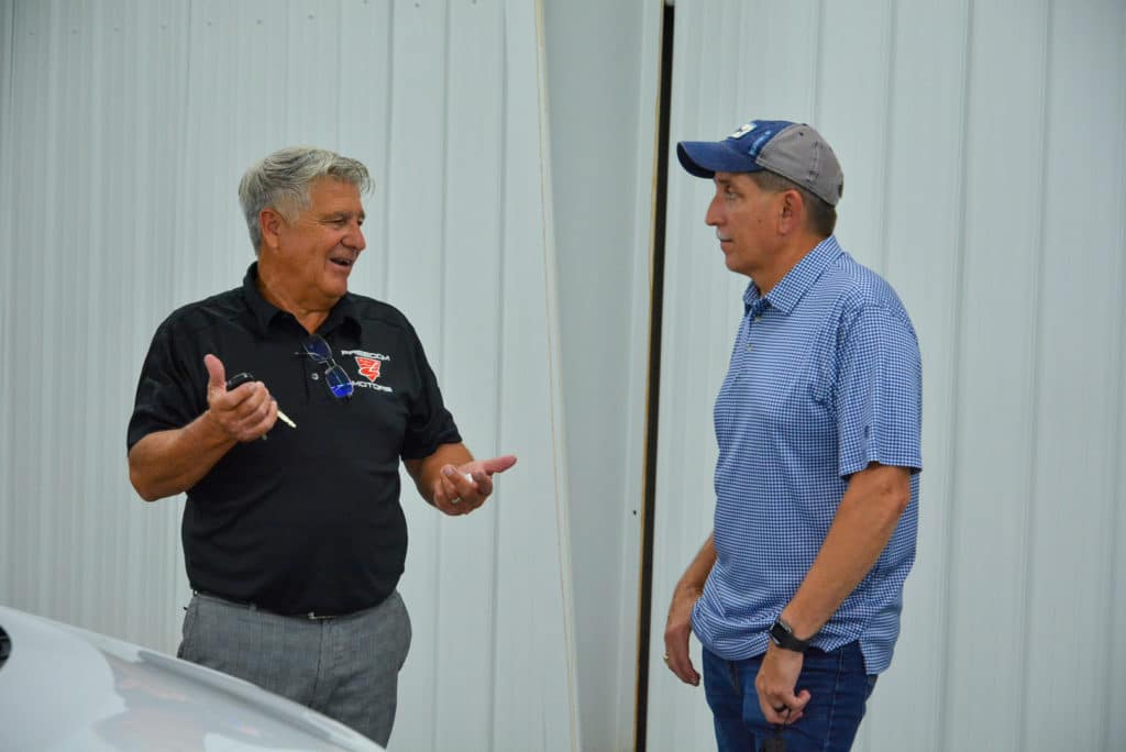 Freedom Motors customer Brian speaks with Mobility Specialist Ray Fosburg.