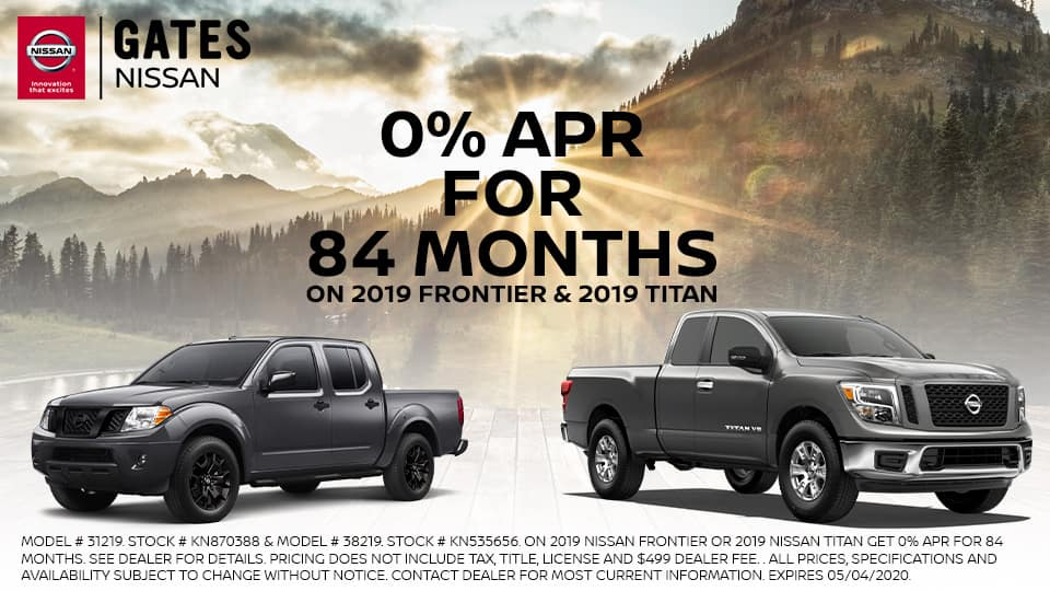 0% for 84 Months - Gates Nissan