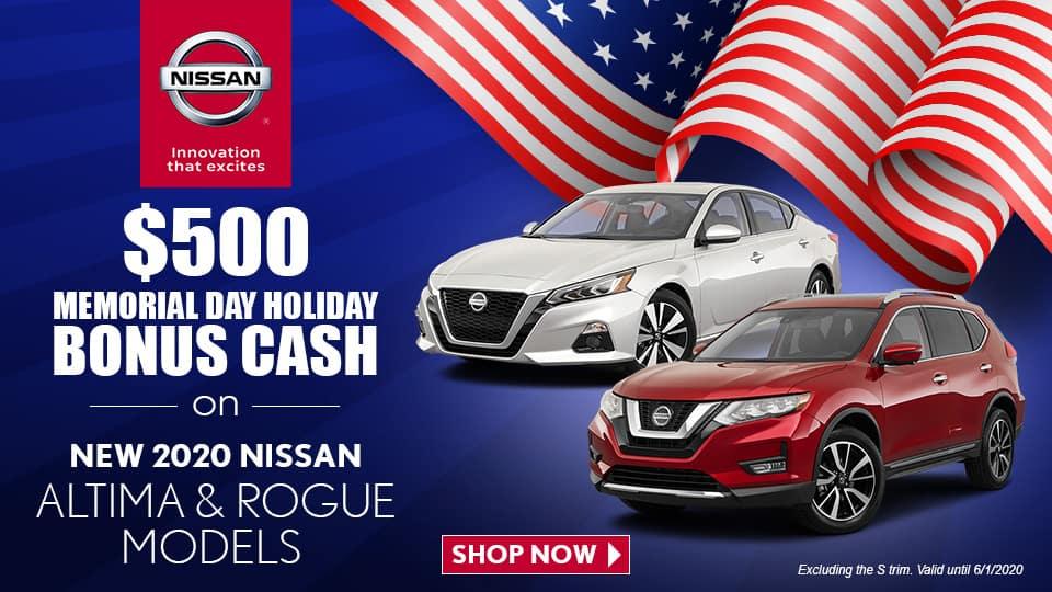 $500 Memorial Day Holiday Bonus Cash