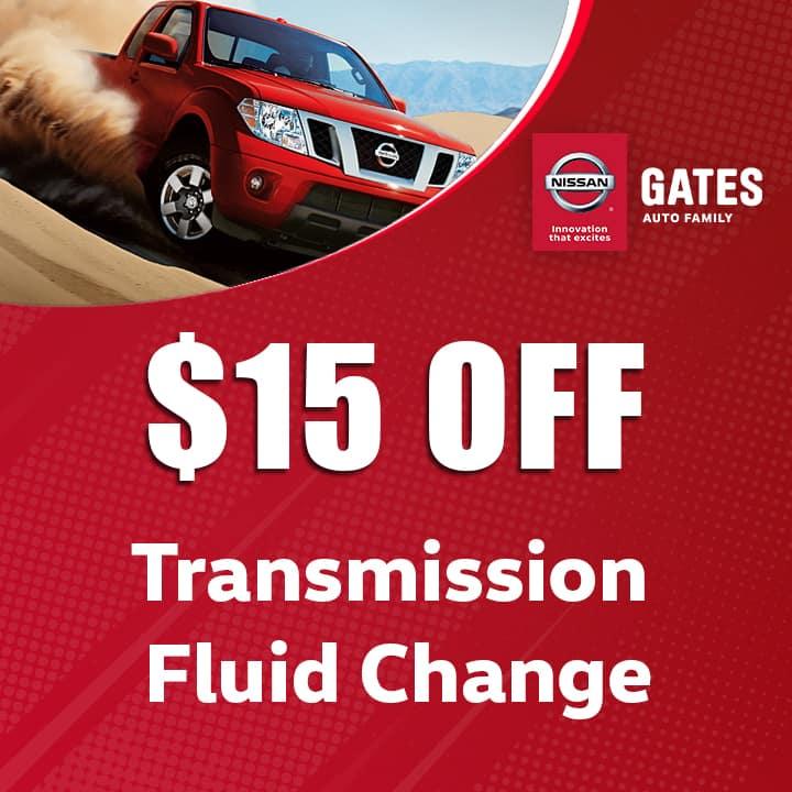 $15 Off Transmission Fluid Change