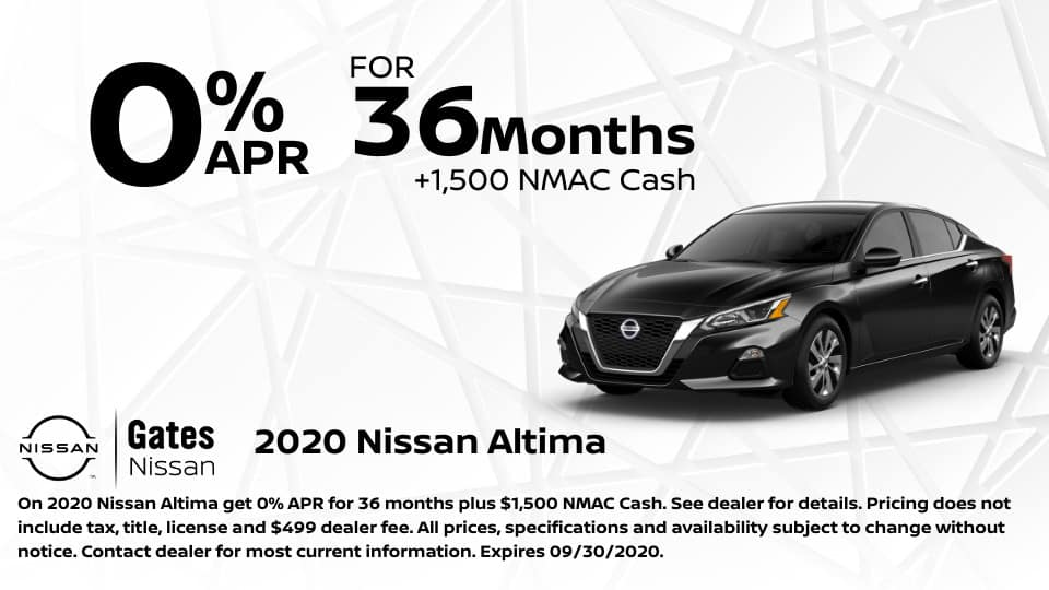 0% APR fpr 36 Months on Nissan Altima