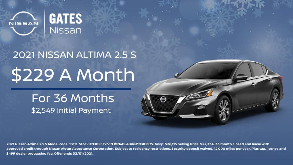 2021 Nissan Altima 2.5 S Lease at Gates Nissan in Richmond