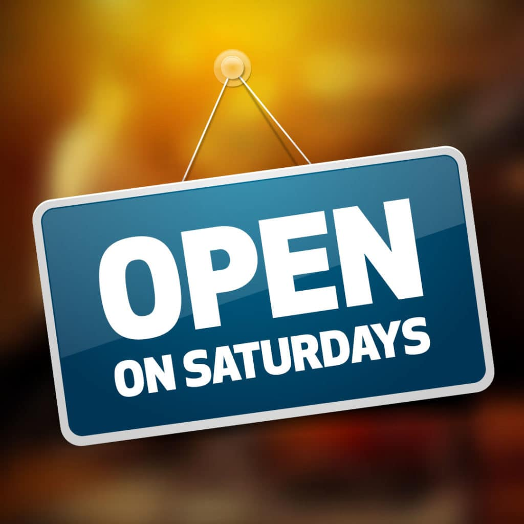 <b>Service Department is Open on Saturdays</b>