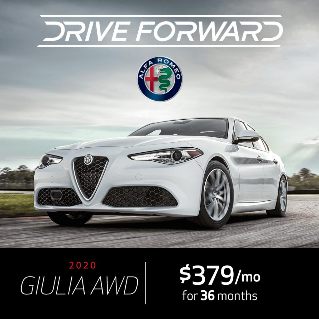 New 2020 Alfa Romeo Giulia AWD Lease