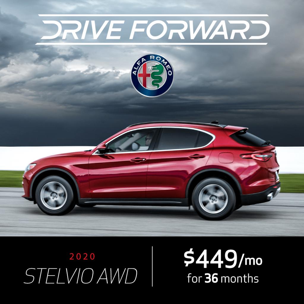 New 2020 Alfa Romeo Stelvio AWD Lease