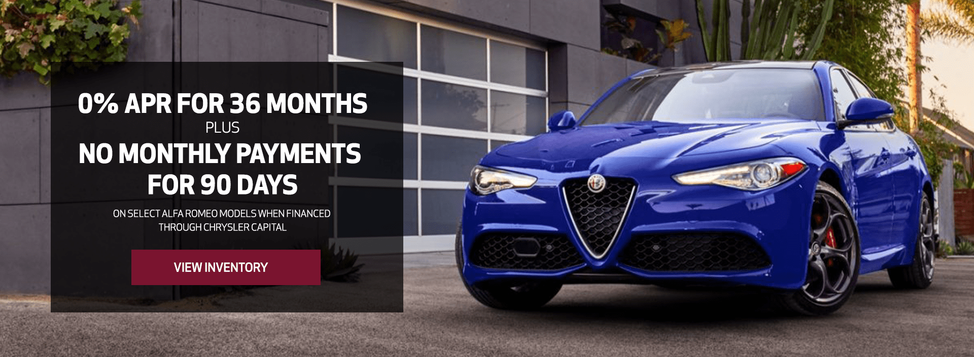 0% APR plus NO PAYMENTS for 90 days