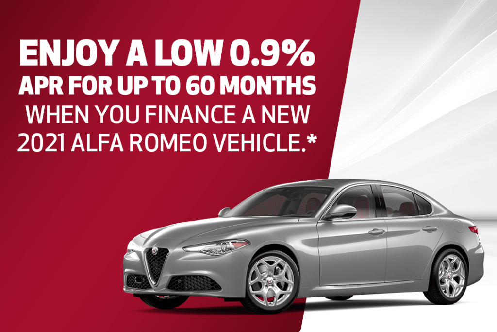 Finance a New 2021 Alfa Romeo vehicle with rates as low as 0.9% APR