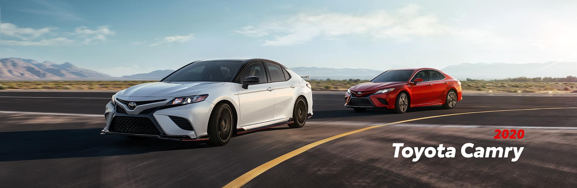 Model Features of the 2020 Toyota Camry at Hanover Toyota | two 2020 camry parked on the street