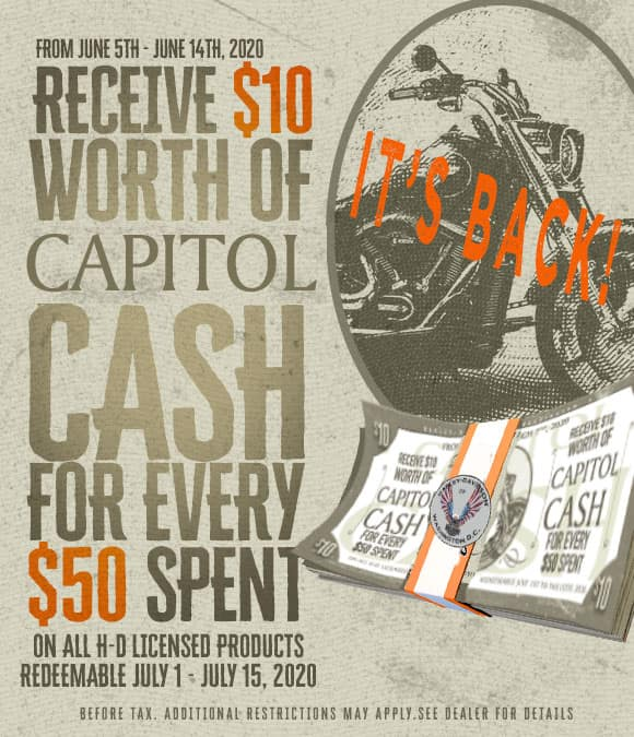 capitol cash, harley davidson of washington dc, free, money, sale fort washington , bargain, All American, Patriot, Old Glory, Bagger Boyz,  District, Quantico, classic iron, wisconson, Harley, Harley Davidson, Eastern Peformance