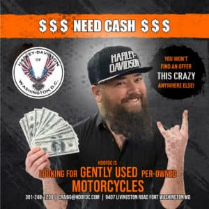 need cash, craig garrett, harley davidson, washington, motorcycles