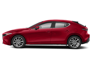 red mazda3 hatchback