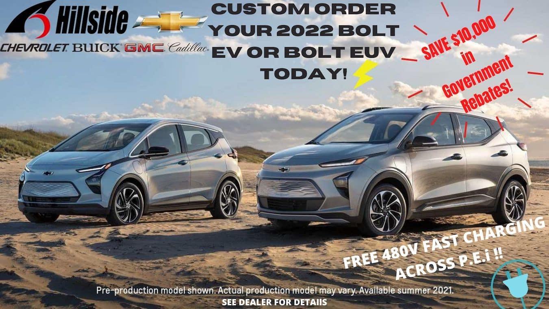 Order Your 2022 Bolt EV or Bolt EUV Today!