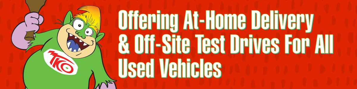 Off-site delivery and at-home test drives