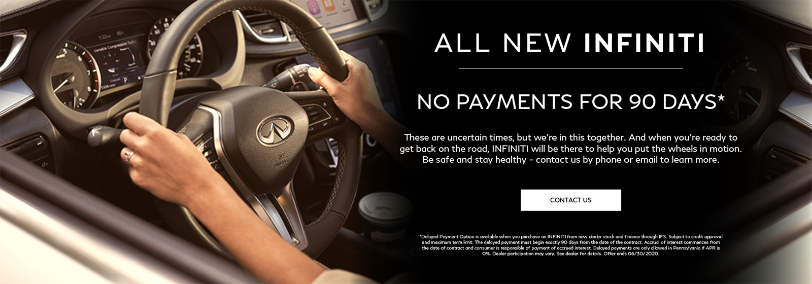 Putting you back on the road with no payments for 90 days. Contact us to learn more.
