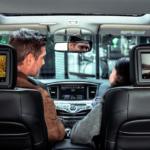 Rear seat entertainment system inside INFINITI QX60