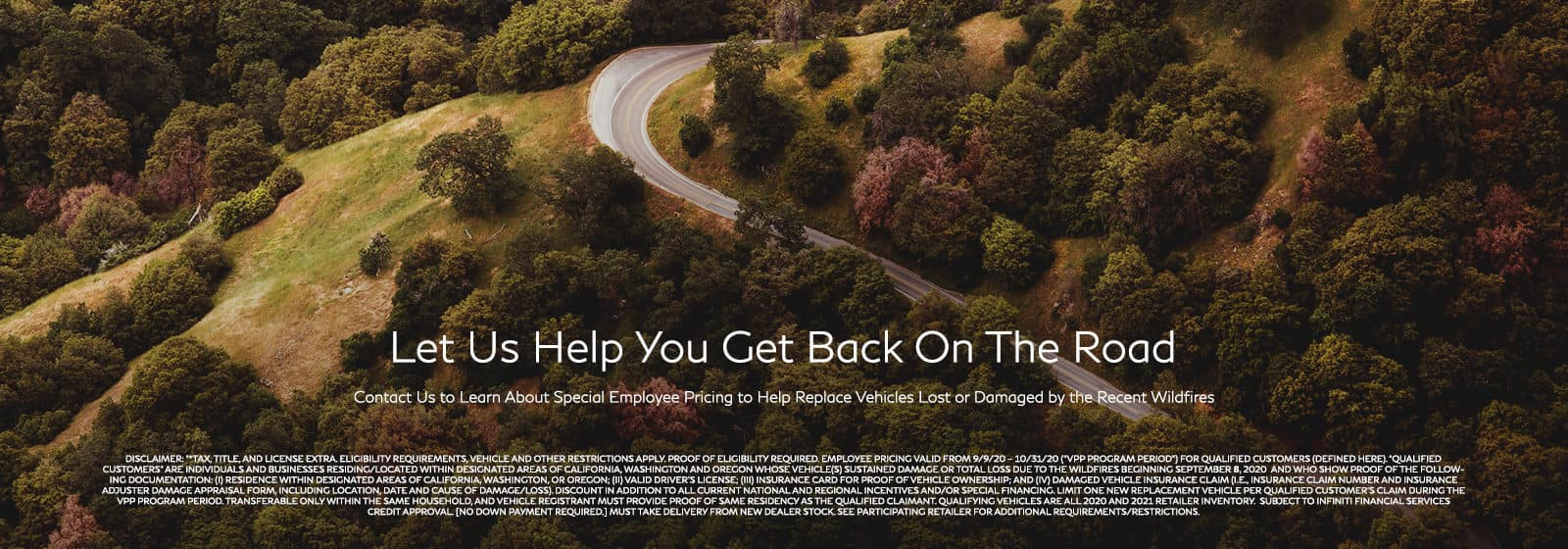 Let us help you get back on the road. Click to contact us.