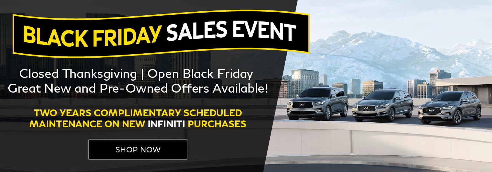 Black Friday Sales Event at INFINITI of San Jose. Shop Now.