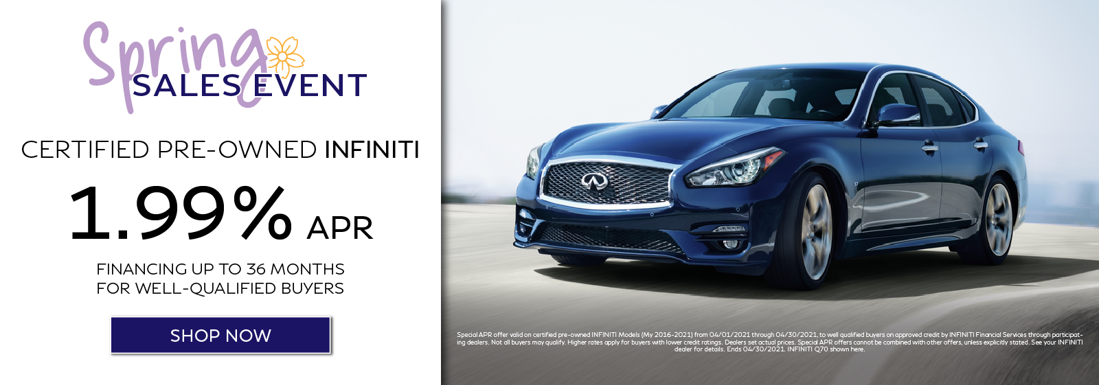 Certified Pre-Owned INFINITI APR Offer. Click to shop now.