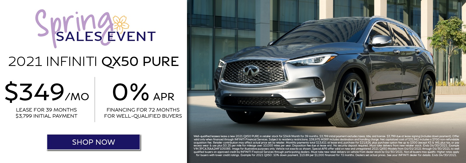 2021 QX50 Lease and APR Offers. Click to shop now.