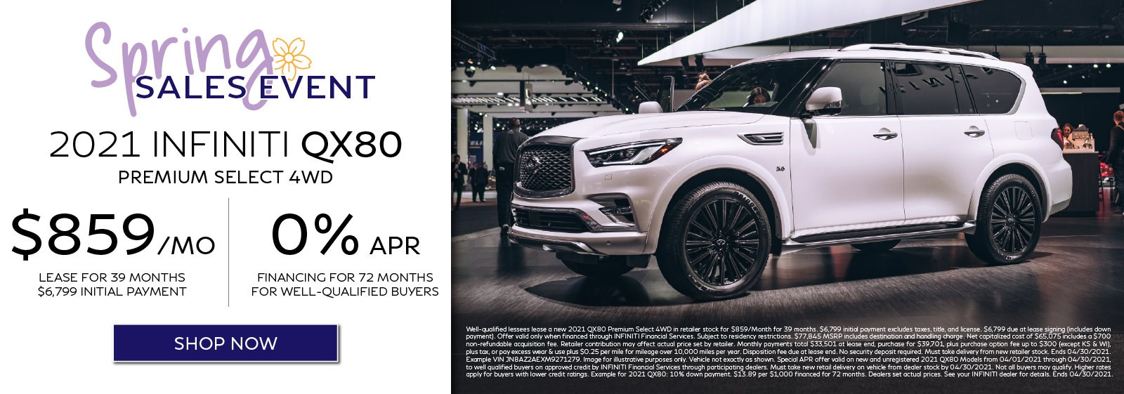2021 QX80 Lease and APR Offers. Click to shop now.