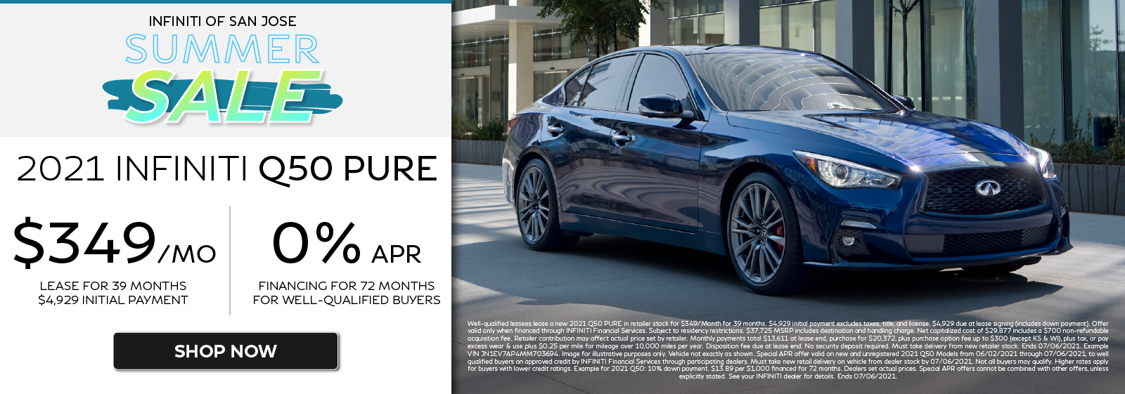2021 Q50 Lease and APR Pure Offers. Click to shop now.