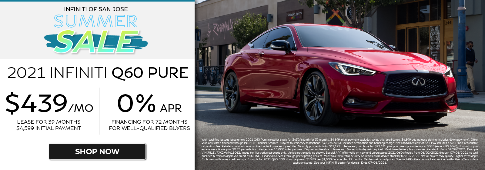 2021 Q60 PURE Lease and APR Offers. Click to shop now.