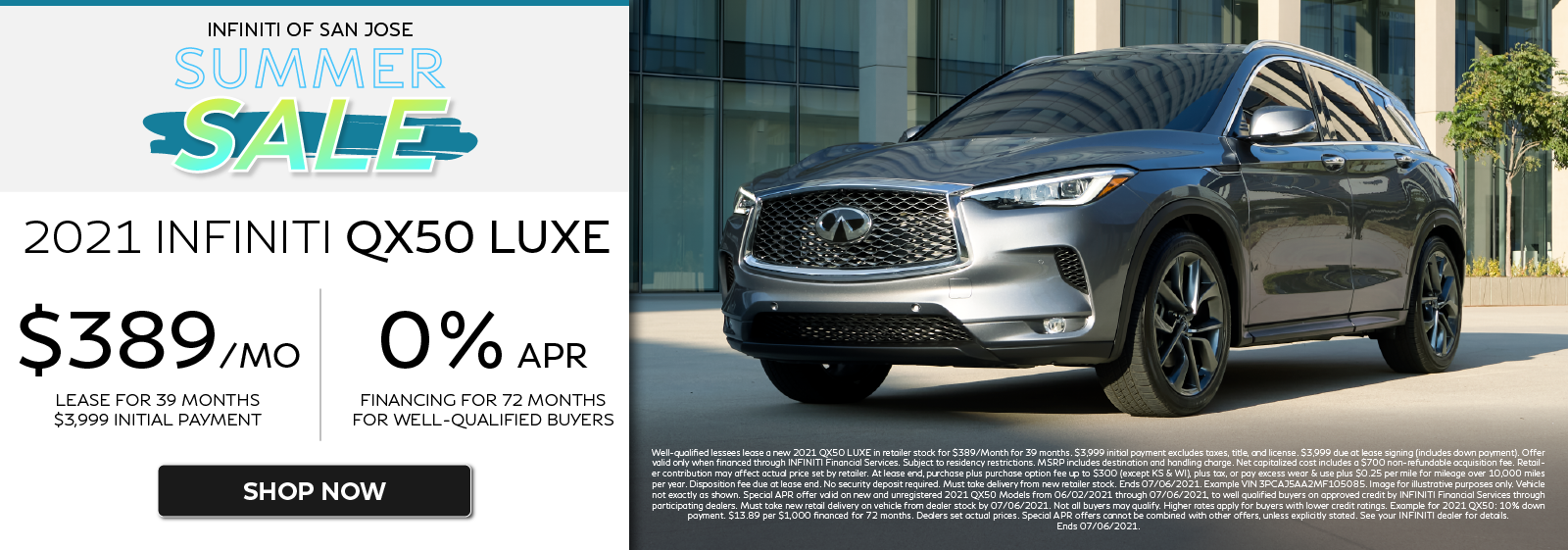 2021 QX50 LUXE Lease and APR Offers. Click to shop now.