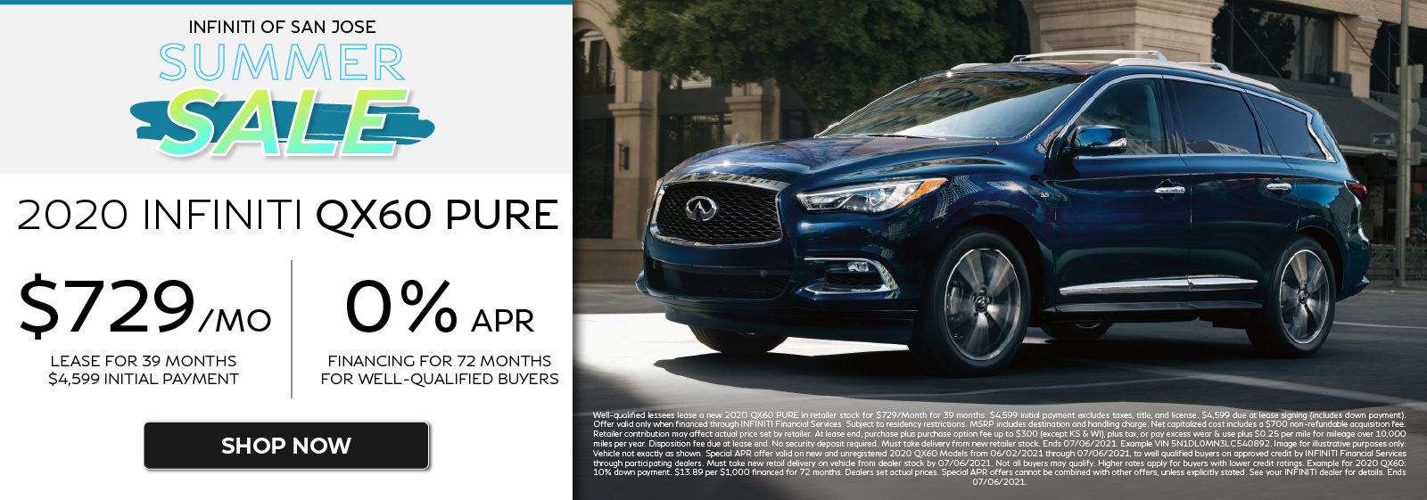 2020 QX60 PURE Lease and APR Offers. Click to shop now.