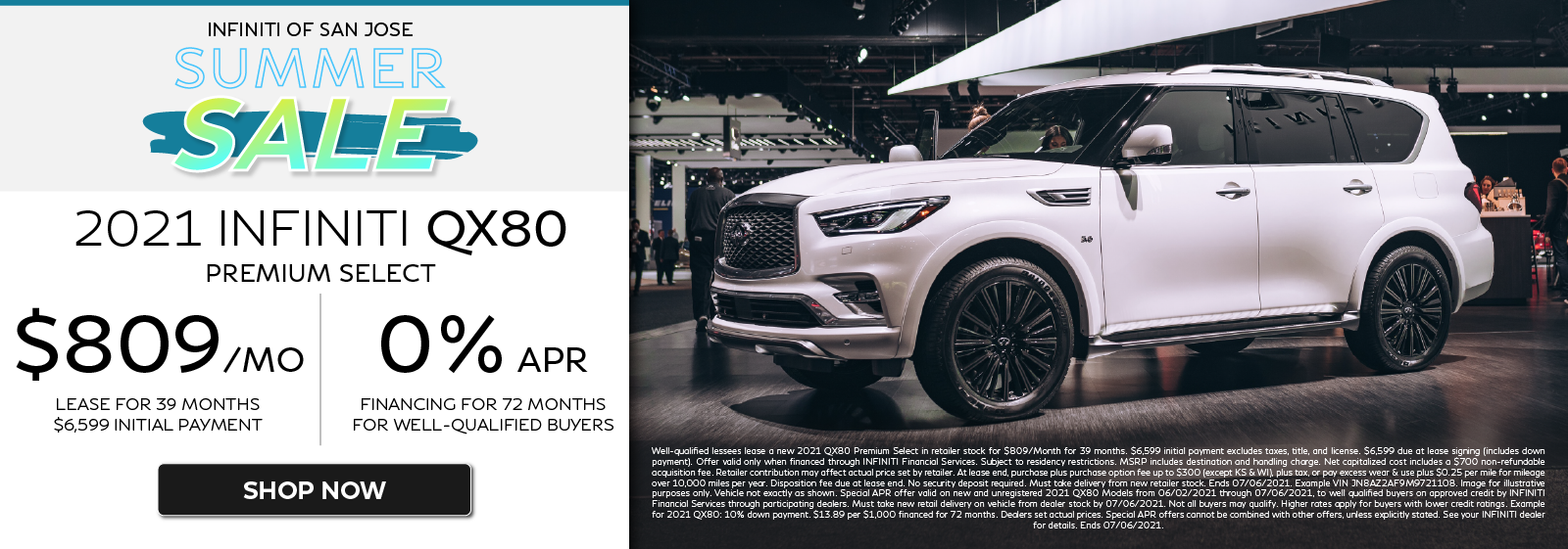 2021 QX80 Premium Select Lease and APR Offers. Click to shop now.