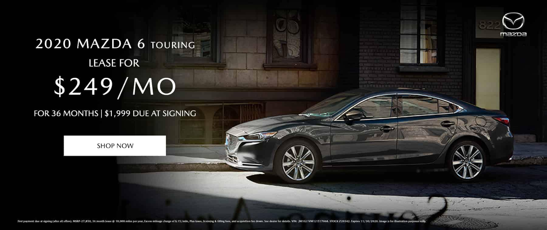 New Mazda 6 Touring for $249 per month