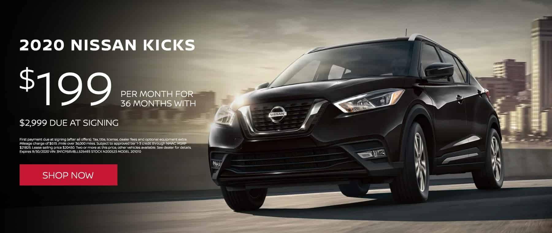 2020 Nissan Kicks $199 per month