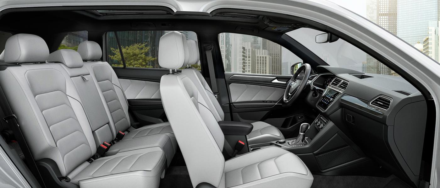 Grey Interior of a 2020 Volkswagen Tiguan