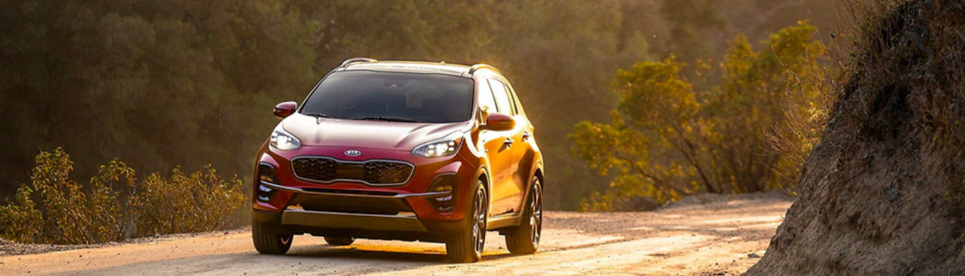 Kia Sportage on gravel road