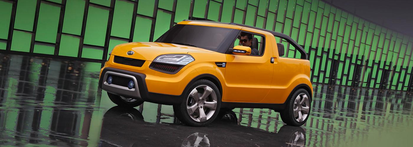 Kia Soul'ster Concept in yellow