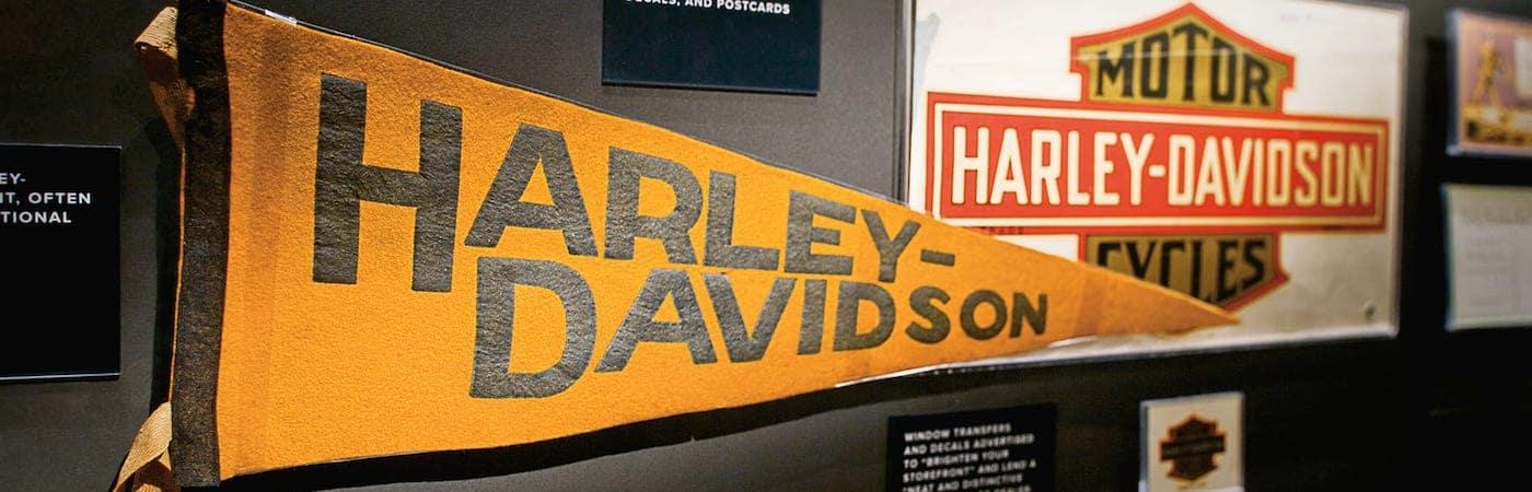 Harley-Davidson History Pennant and Art