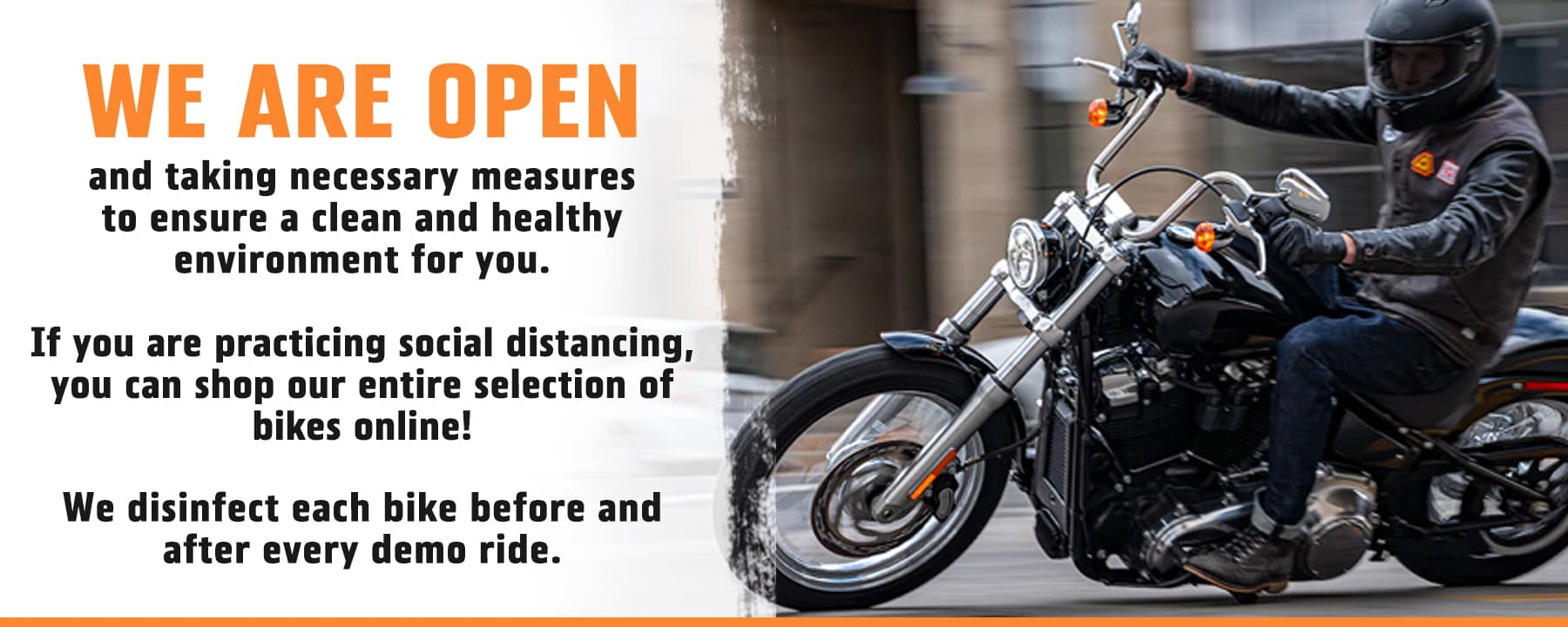 We are open at Lakeland Harley Davidson