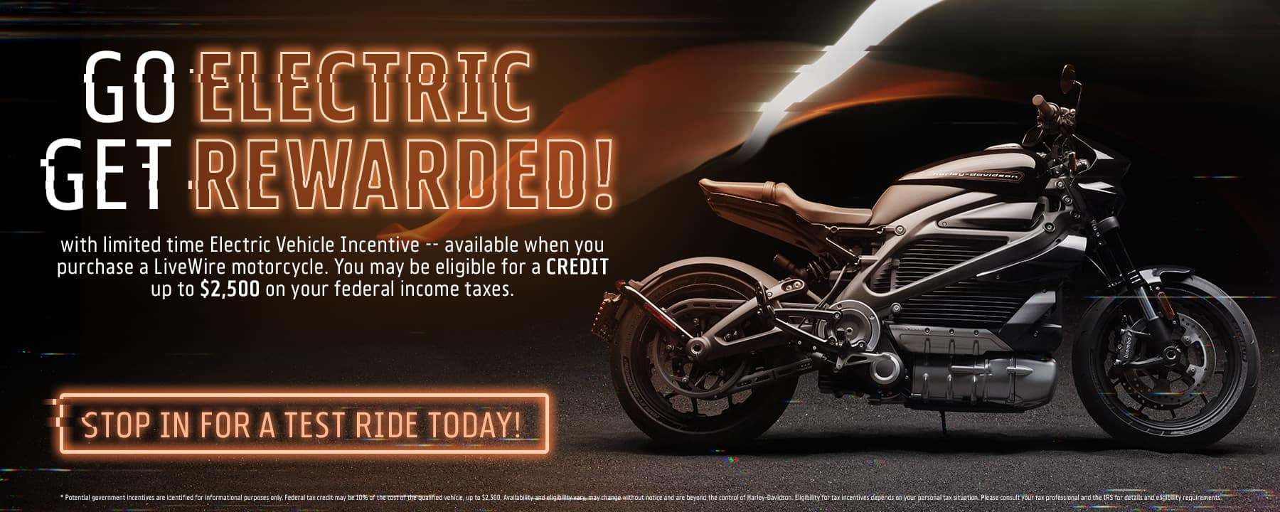 Go Electric & Get Rewarded at Lakeland Harley Davidson