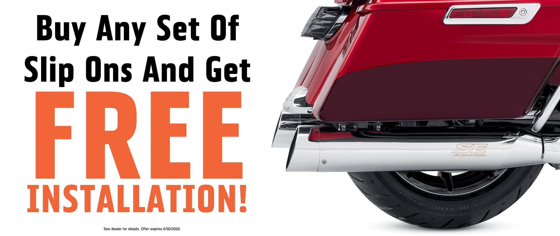 Buy Any Set of Slip Ons and Get Free Installation!