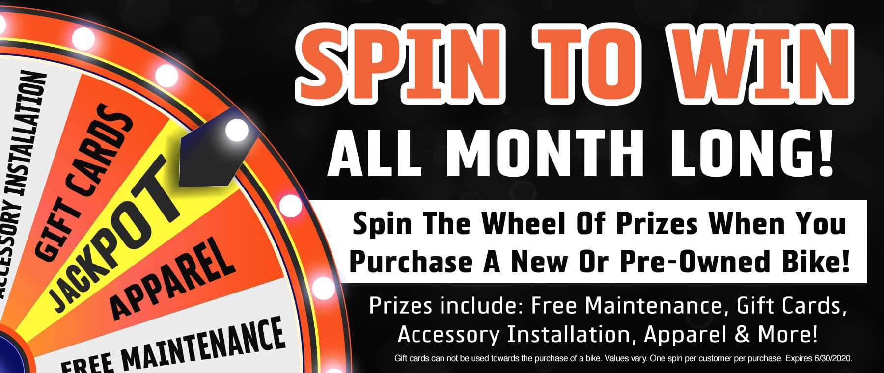 Spin to Win All Month Long