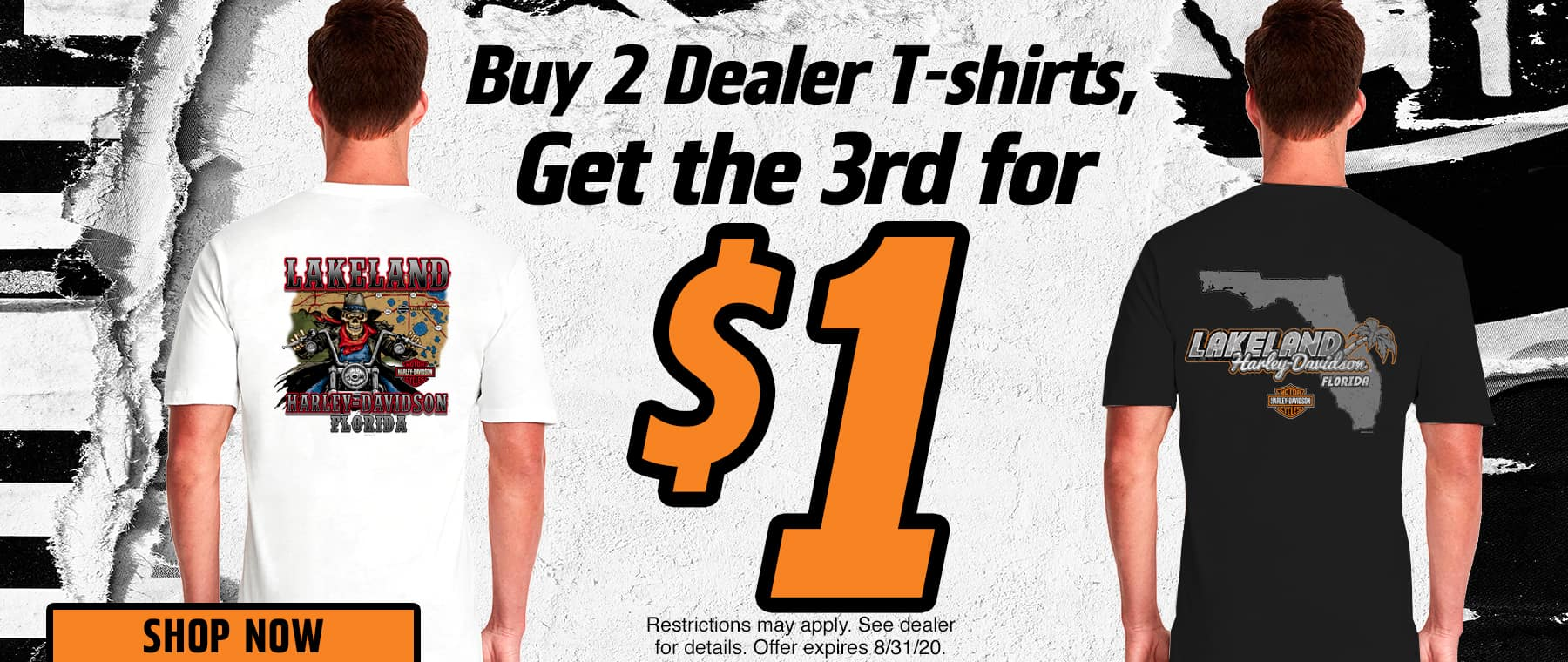 Buy 2 Dealer T-shirts, Get the 3rd for $1