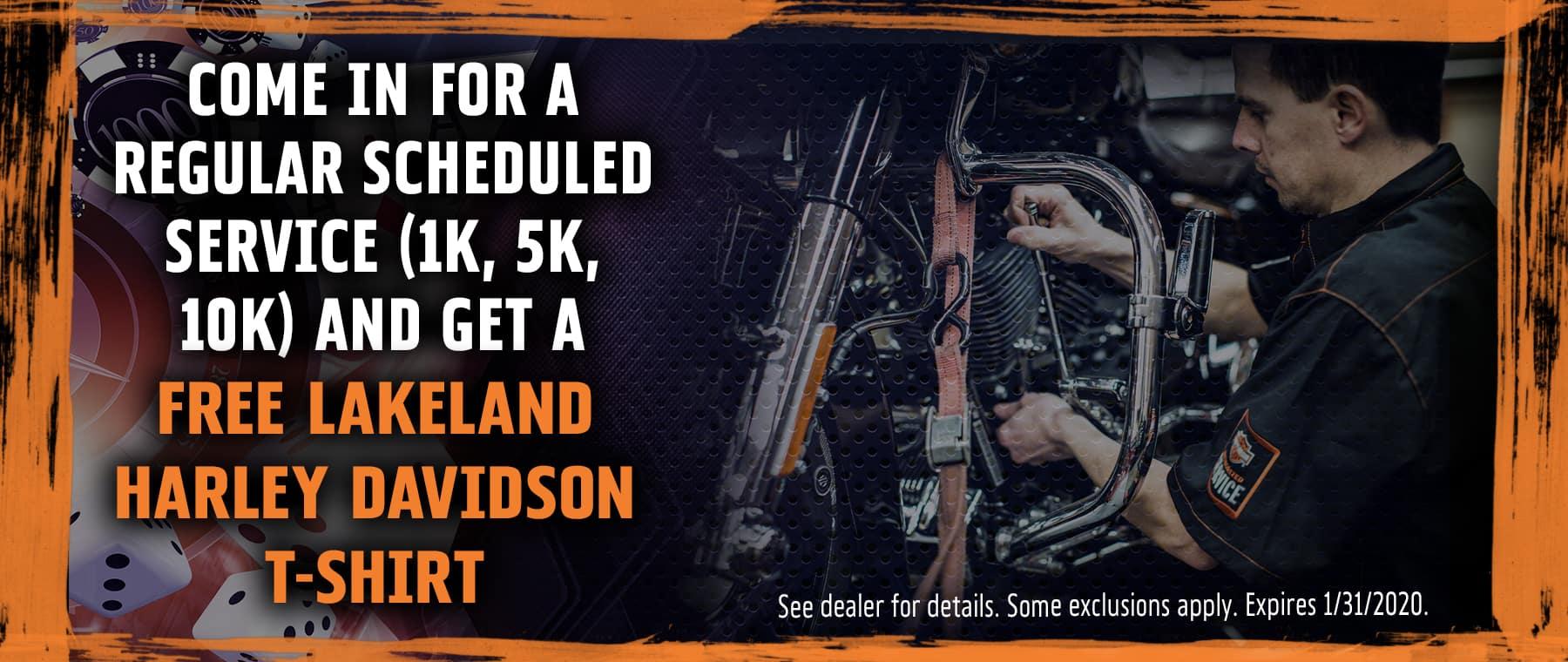 Get a FREE Lakeland Harley Davidson T-Shirt