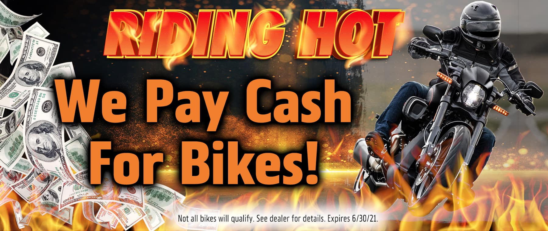 WE PAY CASH FOR BIKES