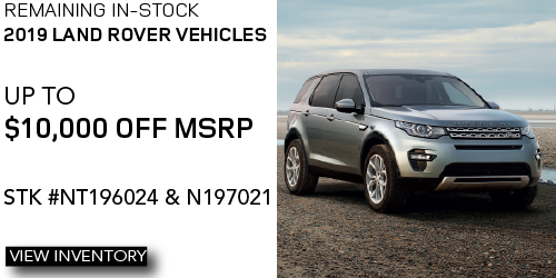 Remaining In-Stock 2019 Land Rover Models