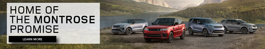 2020 Land Rover Fleet on grass near water and mountains. Home of the Montrose Promise. Click to learn more.