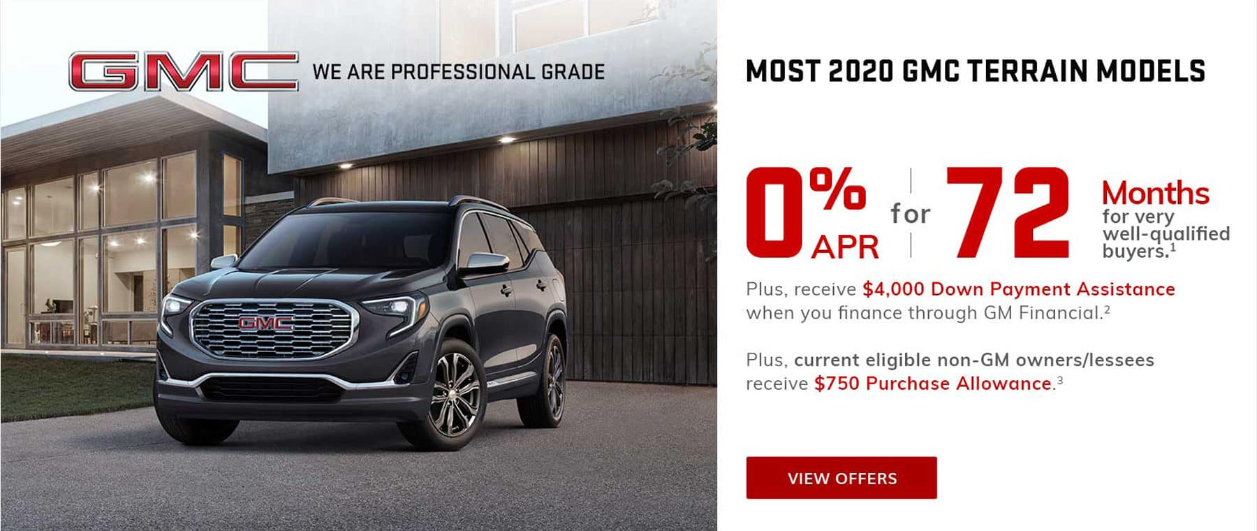 0% Financing for 72 months on GMC Terrain in West Bend WI