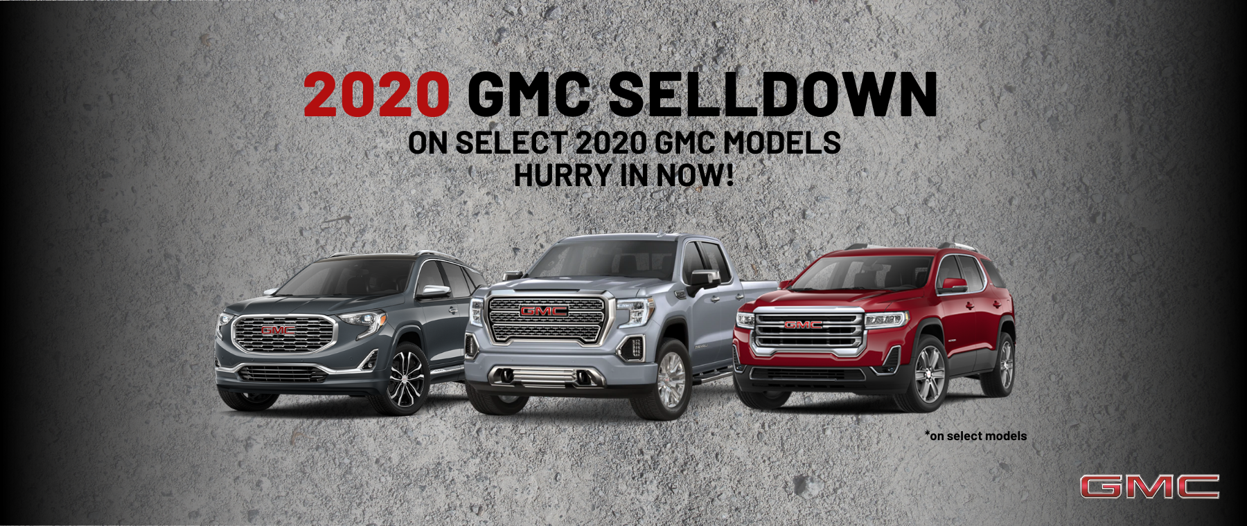 GMC Truck 2020 Model Year Sell Down in West Bend WI