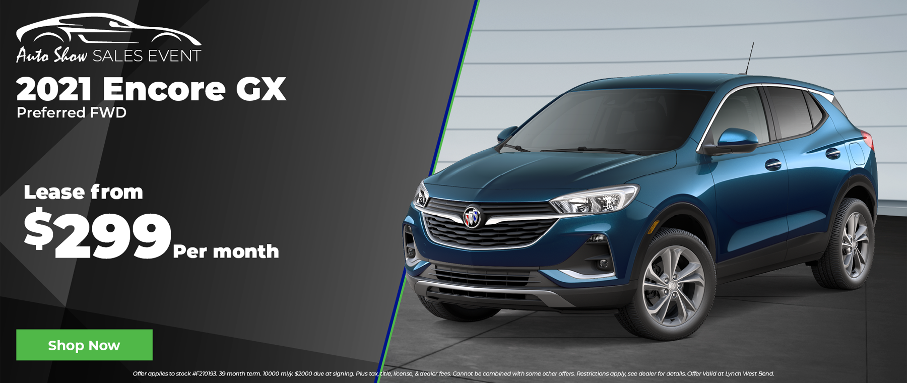 New Buick Encore GX for $299 per month in West Bend Wisconsin