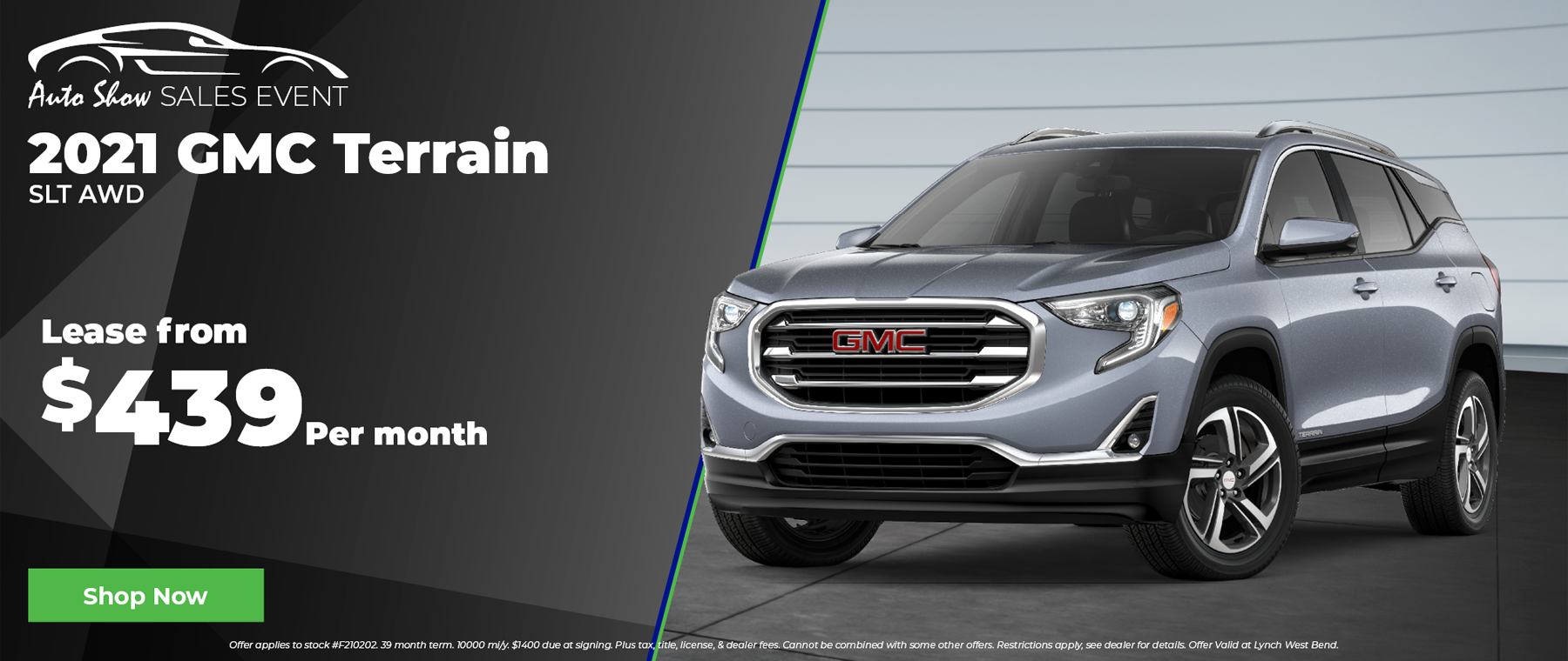 2021 GMC Terrain for $439 per month in West Bend Wisconsin